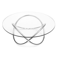 1970's Chrome and Glass Eclipse Coffee Table - Decorative Collective