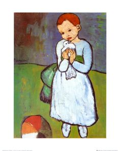 """Pablo Picasso's """"Child with a Dove"""" - This was done when Picasso was 19 years old. Picasso has been called a child prodigy. Kunst Picasso, Art Picasso, Picasso Blue, Picasso Paintings, Picasso Tattoo, Picasso Images, Georges Braque, Van Gogh, Cubist Movement"""