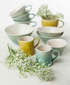 Handthrown tableware by Sarah Went ceramics