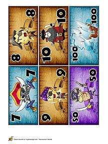 Piratengeld 2 kleuters / Découpage billets de banque pour enfants