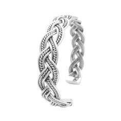 BR113  Price $49.49 Sterling Silver Twisted Wire Cuff Bracelet Gift To Men Or Women This Solid Sterling Silver Bracelet 92.5 Twisted with excellent finish with a very nice solid feel. Made for both men & women This is a terrific & incredible Wrap your wrist in this shimmering sterling silver this is a statement piece  Metal Finish : Genuine Sterling Silver 92.5 Guaranteed 100%  Metal Stamp : 925-sterling  Weight : 22.4 gm  Length : 7 1/2 inches Adjustable fit 7 3/4 inches