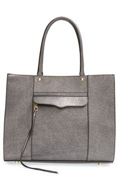 Free shipping and returns on Rebecca Minkoff 'Medium MAB' Tote at Nordstrom.com. Lustrous pebbled leather provides a modern spin on Rebecca Minkoff's iconic Morning After Bag, classically styled with elegant rolled handles and a signature exterior flap pocket. Leather laces trail from the front zipper for a perfect finishing touch.