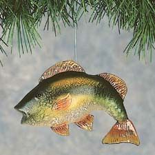 Crackled Glass Bass Christmas Ornament