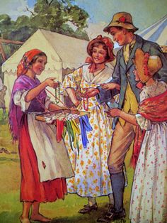 1920s Oh Dear What Can the Matter Be NURSERY RHYME Margaret TARRANT print