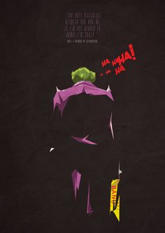 """The Joker  """"The Difference between You and Me"""" Poster"""