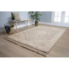 """Bungalow Rose Colyn Heiroglyphics Brown/Cream Area Rug Rug Size: 7'10"""" x 10'6"""""""