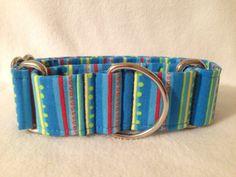 Corduroy Bear Stripe Blue Martingale or by DogCollarsByDesign, $10.00