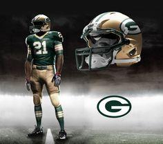 Green Bay Packers Nike NFL Pro Combat Uniform