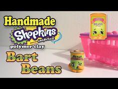 Season 2 Shopkins: How To Make Bart Beans Polymer Clay Tutorial! - YouTube