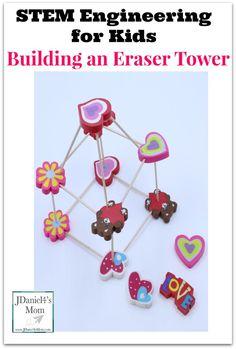 STEM Engineering for Kids Building an Eraser Tower