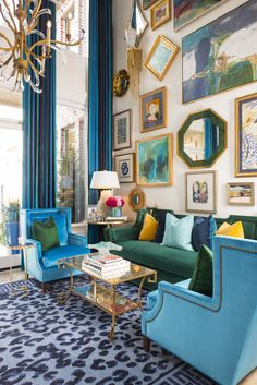 Formal Living Rooms, My Living Room, Home And Living, Living Room Decor, Eclectic Living Room, Living Room With Color, Living Room Designs, Ibb Design, Maximalist Interior