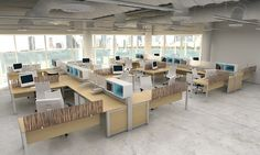 modern office cubicles design - Google Search