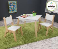 Details zu Kindersitzgruppe NATUR WEISS 1 Kindertisch 2
