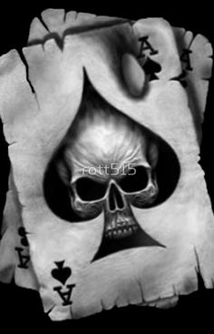 TeTe DE mOrt (As DE pIqUe°) diseños de tatuajes 2019 - Tattoo designs - Dessins de tatouage Ace Of Spades Tattoo, Skull Tattoos, Sleeve Tattoos, Tattoo Caveira, Et Tattoo, Card Tattoo, Totenkopf Tattoos, Neue Tattoos, Poker Tattoo