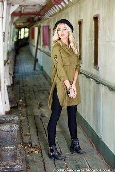 Camisas largas con tajos laterales moda otoño invierno 2016 Reina Ana.                                                                                                                                                                                 Más
