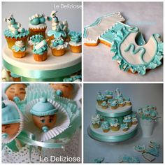 Tiffany baby shower -cupcakes, cookies & cake pops