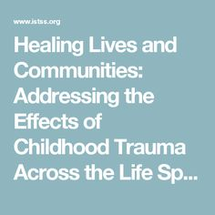 Healing Lives and Communities: Addressing the Effects of Childhood Trauma Across the Life Span 30th Annual Meeting Jointly Sponsored by Boston University School of Medicine and the International Society for Traumatic Stress Studies The largest gathering of professionals dedicated to trauma treatment, education, research and prevention Visit www.istss.org for the latest meeting information Poster Abstracts www.istss.org ISTSS_Main media Documents 2014PosterAbstracts.pdf