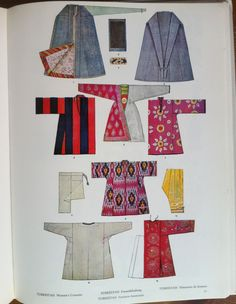Max Tilke, Le costume-Coupes et formes. Turkestan, Womens's Costume p.77.