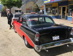 Checking out my Aunt's newly restored beautiful 1956 Chevy in Keremeos BC during a road trip to visit my Mom for her Birthday. Chevy, Restoration, Road Trip, Clouds, Vehicles, Car, Movies, Beautiful, Birthday