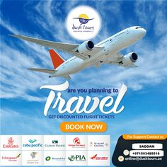 Get cheapest tickets of the most safest flights from DUSK TOURS and have a memorable journey Book yours Now call/whatsapp 55 981 7413 Travel Tours, Travel And Tourism, Travel Agency, Air Ticket Booking, Air Tickets, Online Air Ticket, Book Flight Tickets, Cebu Pacific