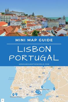 Lisbon Portugal Travel Guide | A bucket list guide to the best things to do in Lisbon, Portugal. Everything you need to see, do and eat while in this famous city all in one interactive map. Plan the ultimate trip including where to stay, food recommendations and shopping tips. | Mrs O Around the World #Travel #Lisbon #Portugal | lisbon portugal things to do in | portugal travel lisbon | lisbon restaurants | lisbon portugal food