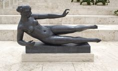 """""""L' Air,"""" design cast Aristide Maillol. Gift of Fran and Ray Stark. Sculpture Painting, Bronze Sculpture, Famous Sculptures, French Sculptor, Getty Museum, Museum Collection, Figurative Art, Art Decor, Illustration Art"""