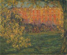 Autumn-at-Hampton-Court-1908-by-Henri-Le-Sidaner.jpg (944×768)