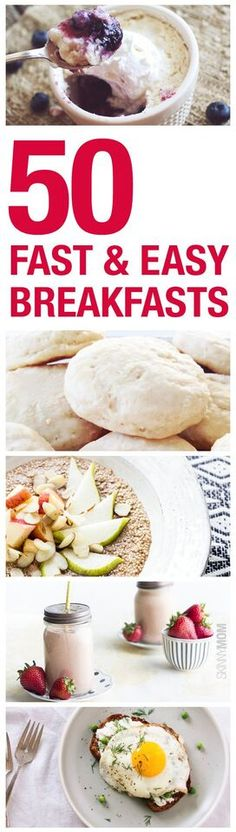50 Fast and Easy Breakfast Recipes - make the morning a breeze with these delicious breakfasts!