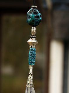 Handmade reflective tassel with glitter beads by GlitterCraftShop