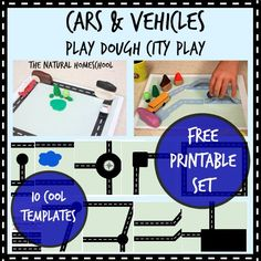Cars & Vehicles: Play Dough City {Free Printables}