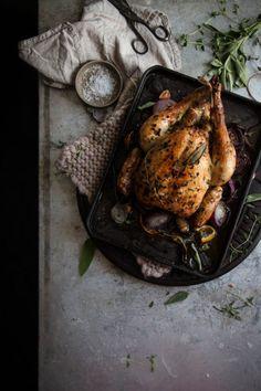 herby lemon roast chicken - twigg studios