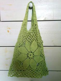 Örgü pazar filesi - Wise Tutorial and Ideas Crochet Market Bag, Crochet Tote, Cute Crochet, Knit Crochet, Knitting Stitches, Knitting Patterns, Crochet Patterns, Tote Pattern, Knitted Bags