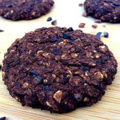 5 Ingredient Chocolate Oat Cookies (Vegan, Gluten-Free, Oil-Free, Low-Fat, Sugar-Free, Low-Calorie)
