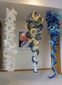 Beautiful hyperbolic #crochet # art from mathematician / artist Gabriele Meyer