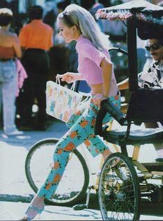 "80s-90s-supermodels: "" ""Kitsch Cocktail"", mid 90s Photographer : Eddy Kohli Model : Veronica Blume """