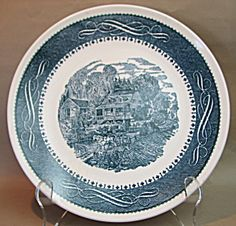 Anchor Hocking Currier and Ives Dinner Plate
