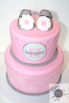 Baby shower cake - by BayberryCakes @ CakesDecor.com - cake decorating website
