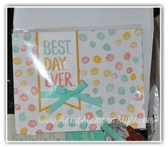 making SIMPLE CARDS IS A BREEZE WITH THE Best Day Ever set from Stampin' Up! it's a great all occasion set with http://www.handstampedstyle.com