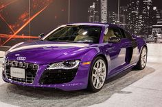 Purple Audi r8! I literally just died! <3