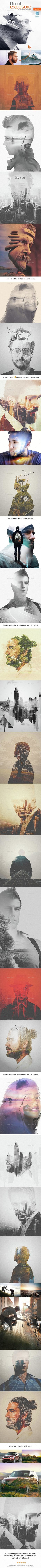 Double Exposure Photoshop PSD Template • Download ➝ https://graphicriver.net/item/double-exposure-photoshop-template-/11484640?ref=pxcr