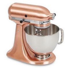 Copper Kitchen Aid mixer. I saw this at Crate and Barrel and stared for a solid two minutes.
