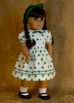 St. Patrick's Day Dress for Molly by Calyxadollcreations on Etsy $25.00