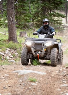 ATV riding can go along with camping and trips to the cabin.  Play it safe!    http://www.amfam.com/learning-center/my-car/atv-safety.asp#?sourceid=PIN_AUTO_ATVSAF