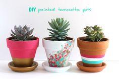DIY Painted Terracotta Pots