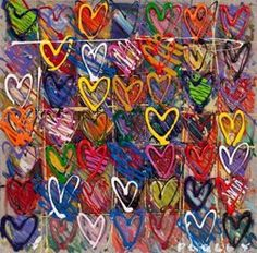 could do this with kindergarten-toilet paper roll heart stamps on top of tempera squares?
