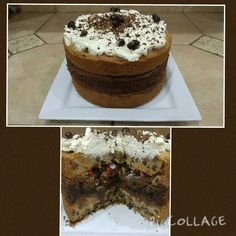 Chocolate Chip Brownie cake