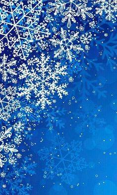White snowflakes on blue background Snowflake Wallpaper, Christmas Phone Wallpaper, Holiday Wallpaper, Wallpaper Backgrounds, Cute Wallpapers, Winter Wallpapers, Noel Christmas, Winter Christmas, Christmas Crafts