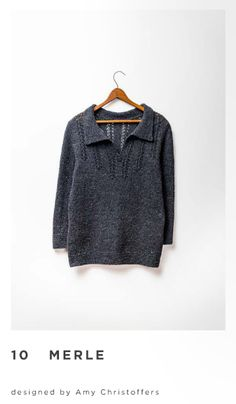 I tried this sweater on during a trunk show at VFKW. Classic and practical with just enough flair. Merle pattern by Amy Christoffers Sewing Binding, Brooklyn Tweed, Ootd, How To Purl Knit, Garter Stitch, Patterned Shorts, Lana, What To Wear, Knitwear