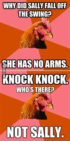 9GAG - A double shot of Anti-Joke Chicken