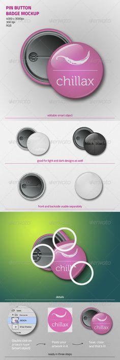 Pin Button Badge Mockup -  zarins on graphicriver, $4